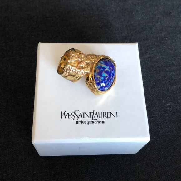 534b44b0e0a Yves Saint Laurent Jewelry | Ysl Arty Ring In Lapis | Poshmark